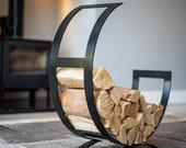 Log store, wood store, metal log store, fire, home, interior design, fire pit, metal art, sculpture, wood, burner, logs, storage