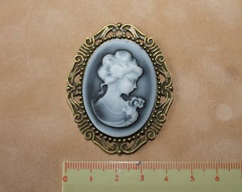 Beautiful copper cameo.