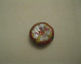 Pink cloisonné bead.