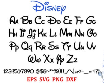picture regarding Disney Letters Printable known as Disney letters Etsy