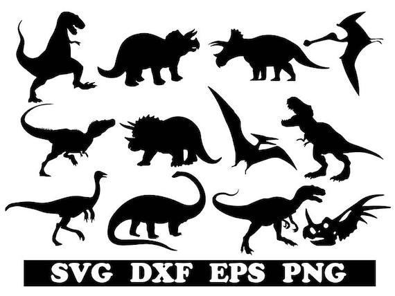 Dinosaurs Svg Dinosaurs Cricut Dinosaur Dxf Animal Svg Etsy