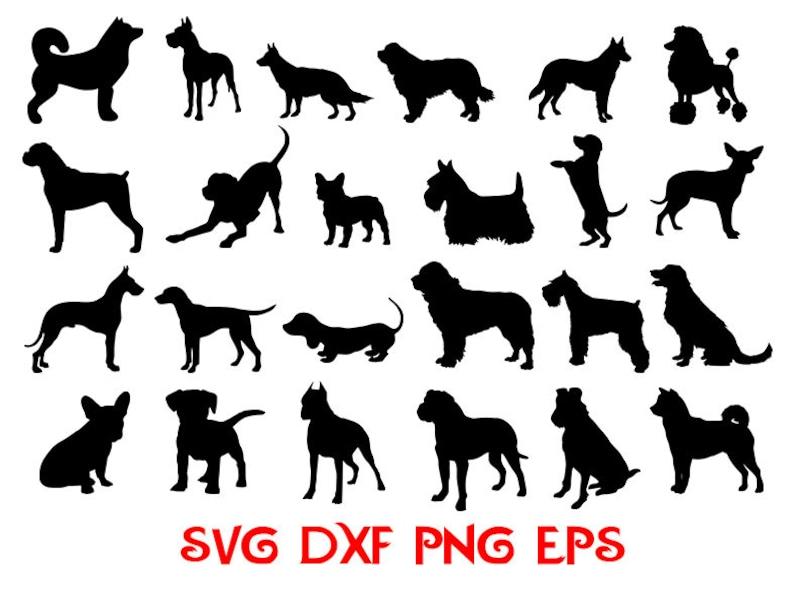 Dogs bundle svg dog breed svg dogs cut files dog template image 0