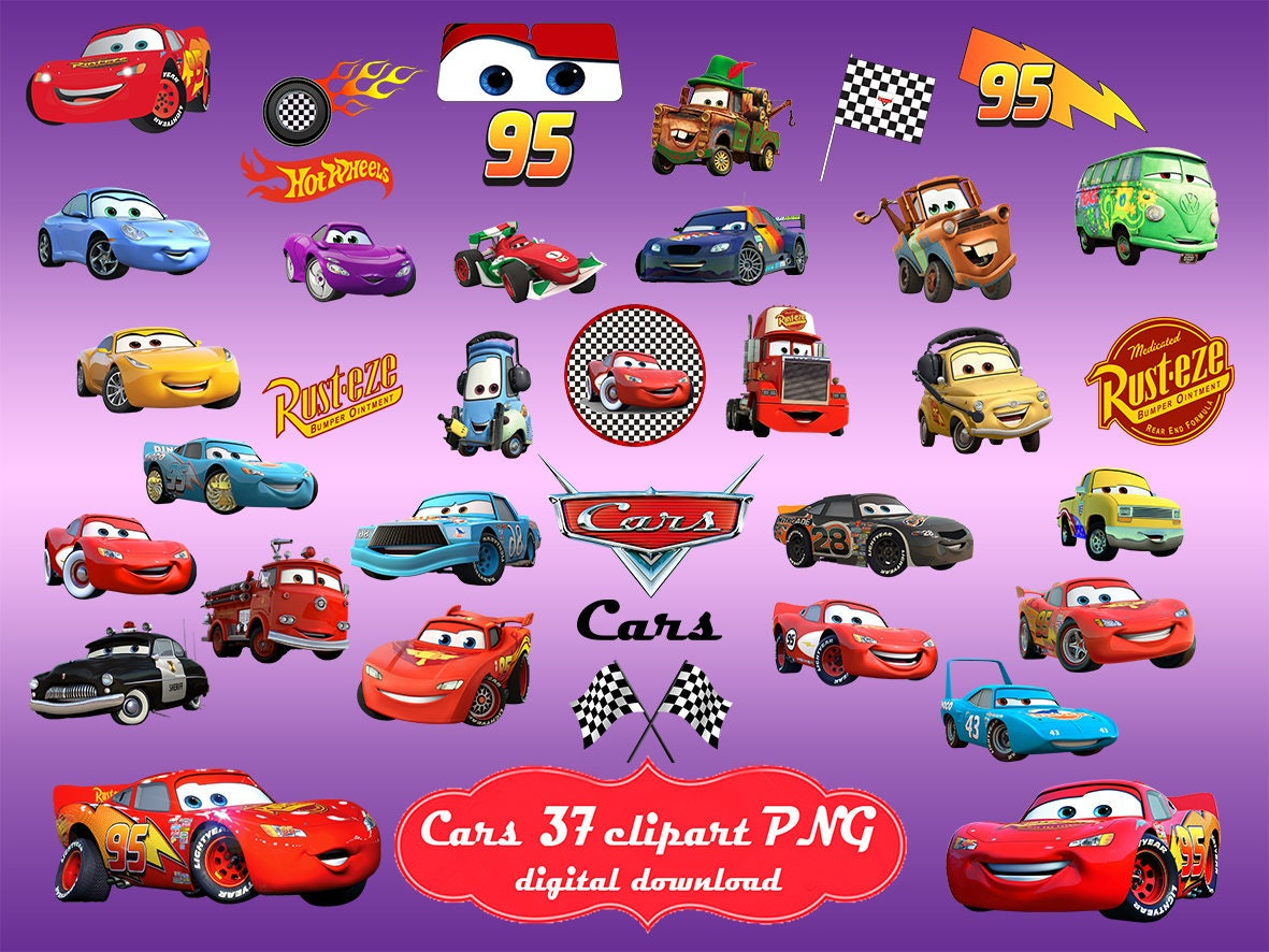 Png di automobili automobili disney automobili film png etsy