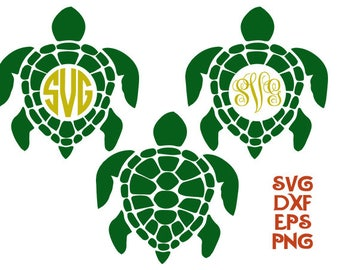 Turtle cricut, turtle svg, turtles dxf, turtles monogram, monogram svg, svg shirt, cut files, cameo files, animals svg, turtles silhouettes