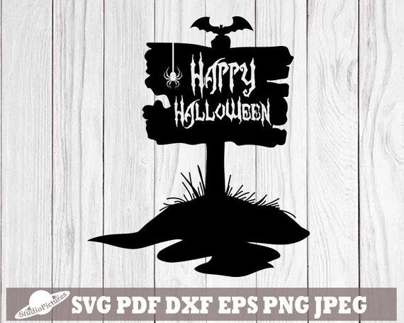 Grave Svg Happy Halloween Svg Graveyard Svg Halloween Party Etsy