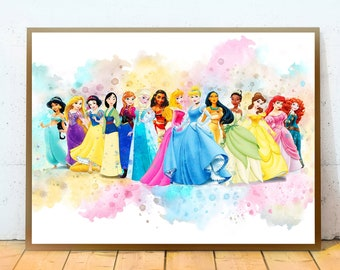 Princess wall art  Etsy