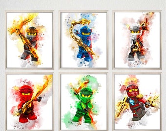 Jay Walker Lego Blue Ninja Jay Gordon Ninjago Poster Rise Etsy