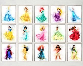 photograph relating to Princess Printable identify Disney princess wall artwork Etsy