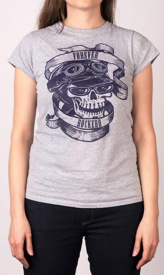 Mexican T-Shirt Black Sugar Skull Rockabilly Vintage Biker Muertos
