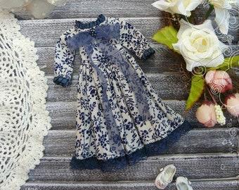 Blythe blue dress / Blythe clothes Pullip dress