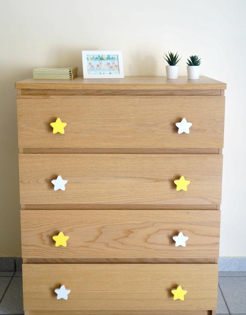 Star cabinet knobs and pulls Kids decorative,wooden star. Wardrobe knobs Stars drawer pulls Children room ideas Nursery dresser knobs