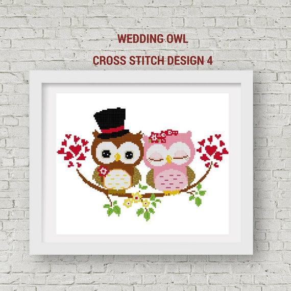 Patrón de punto de Cruz de boda Pareja amorosa cruz puntada | Etsy