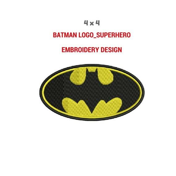 Batman superhéroe Logo bordado diseño Diseño del bordado de | Etsy