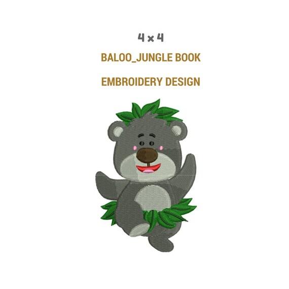 Livre De La Jungle Baloo Broderie Machine De Broderie Le Livre De La Jungle Pleine Emroidery Rempli Les Personnages Du Livre Jungle