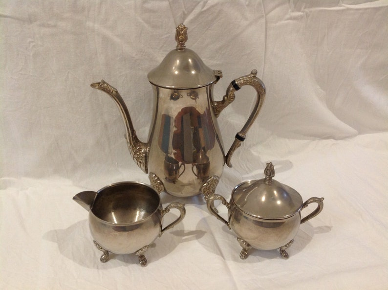 ccc5360bb5d9a Vintage Silver Plated EPNS Westminster A1 Tea Set Antique