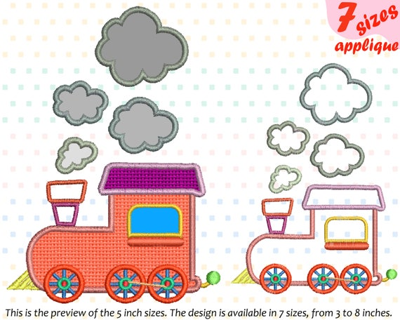 Train Toy Applique Designs For Embroidery Machine Instant Etsy