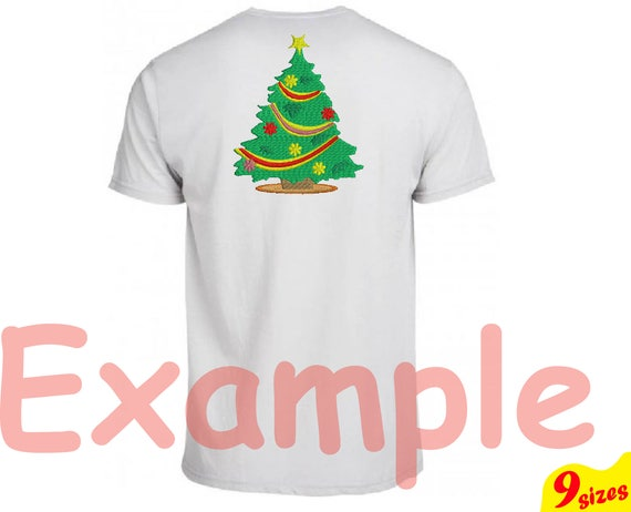 Christmas Tree Embroidery Design Machine Instant Download Etsy