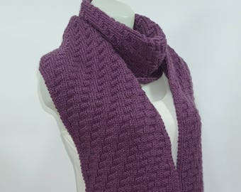 Knit scarf, long knit scarf, knit shawl, chunky Knit scarf in purple, men knit scarf, women knit scarf