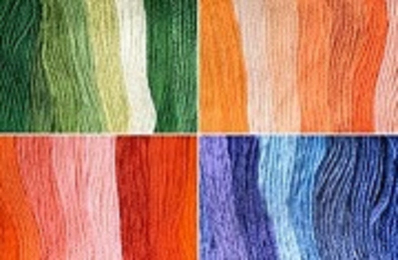 10 skeins of 4m  4.37 yd each color Embroidery floss set of Peruvian cotton thread