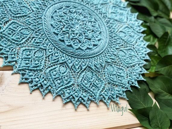 Crochet Pattern Doilycarpet Foliagemc Video Etsy