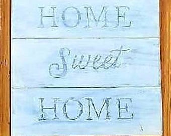 Home Sweet Home Hand Carved Reclaimed Wood Wooden Sign