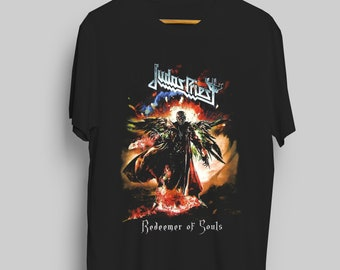Judas Priest Redeemer Of Souls Full Color World Tour T-Shirt Short Sleeve  Exclusive UNISEX 100%Cotton 1a01ca5b3