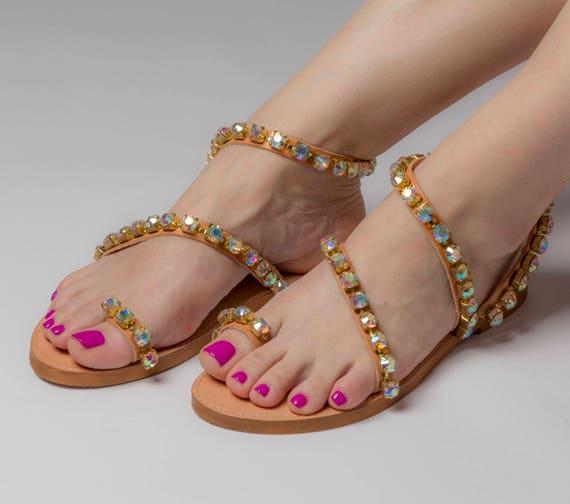 Free Shipping Greek sandals IridaWedding  db740c46e1e4