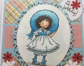 "Happy Birthday Girl card, ""It's Your Birthday"", Handmade Greeting card, Fancy Handmade card, 3D Birthday card"
