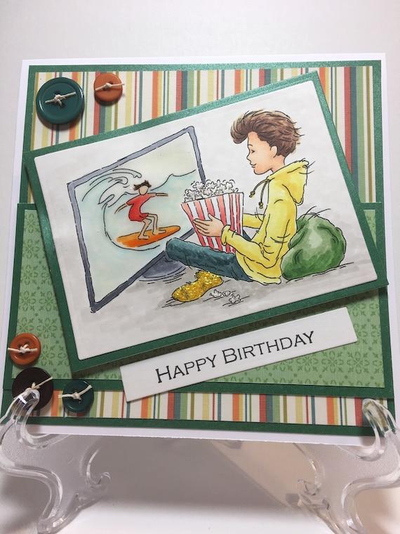 Happy Birthday Card For A Boy Happy Birthday Card Birthday Etsy