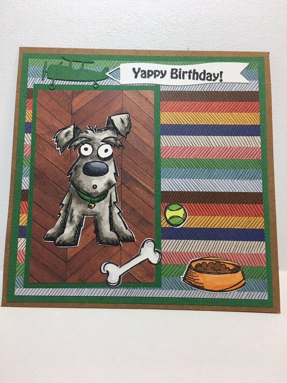 Dog Birthday Card Yappy Lover