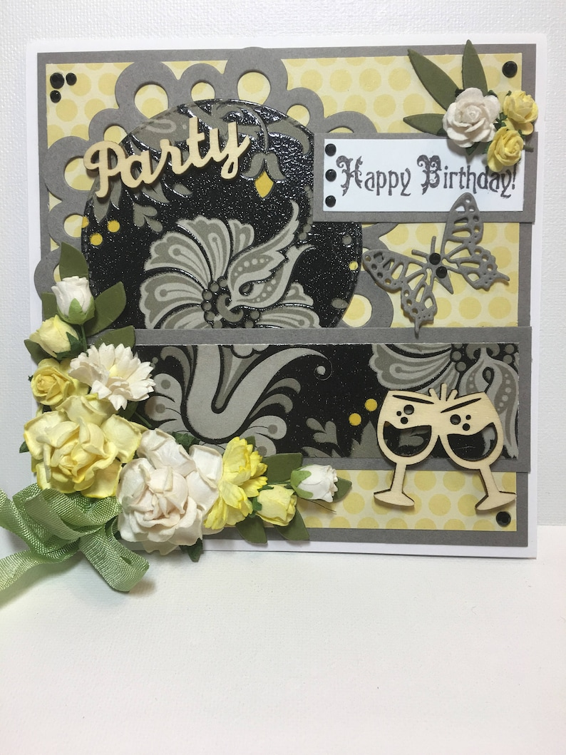 Happy Birthday Card Party Fancy Handmade 3D