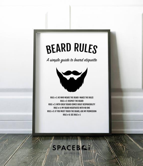 Beard Print Gifts for him Beard Art Husband Gift Boyfriend | Etsy