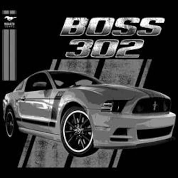 FORD BOSS 302 MUSTANG THE LEGEND LIVES T SHIRT M TO 6X