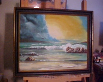 Sea Scape #2 Oil Painting Peter Bartl