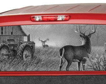 PINK CAMO CAMOUFLAGE PICKUP TRUCK REAR WINDOW GRAPHIC DECAL TINT HUNTER