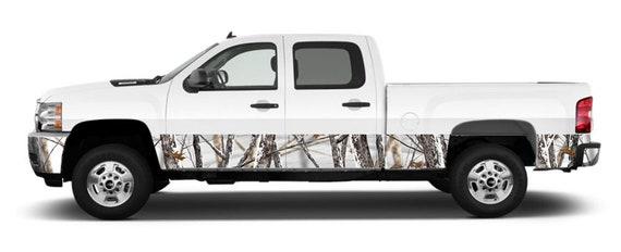 Gloss Finish Truck Wrap MotorINK CAMO Oak Ambush 4 Sheets 15x52 Rocker Panel Graphic kit