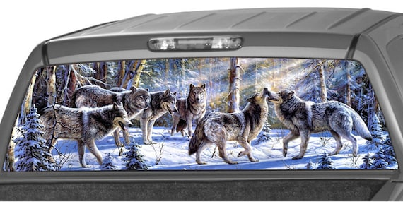 Product Wolf Winter Rear Window Or Tailgate Decal Sticker Pick Up Truck Suv Car