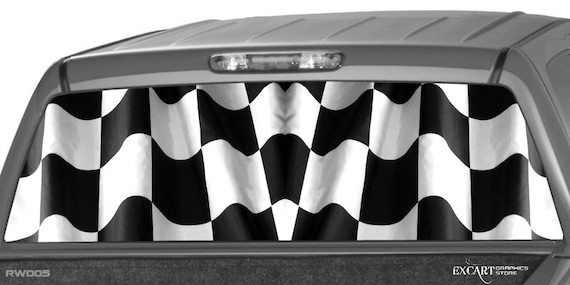CHECKERED FLAG Rear Window Graphic Decal Tint Sticker Truck wrap suv ute perf