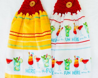 Here Comes the Fun Kitchen Towels - Crochet Top
