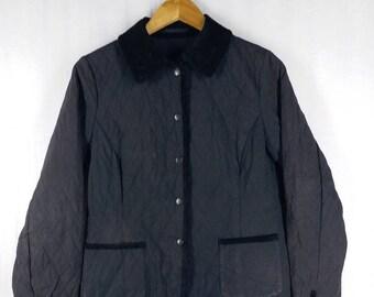 Vintage Aquascutum London// Black Jacket// Check Pattern Inside// Lazy Wear// Size M// England Luxury