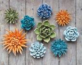 Ceramic Mum Flower - Decorate Your Own Table, Wall, Terrarium Garden