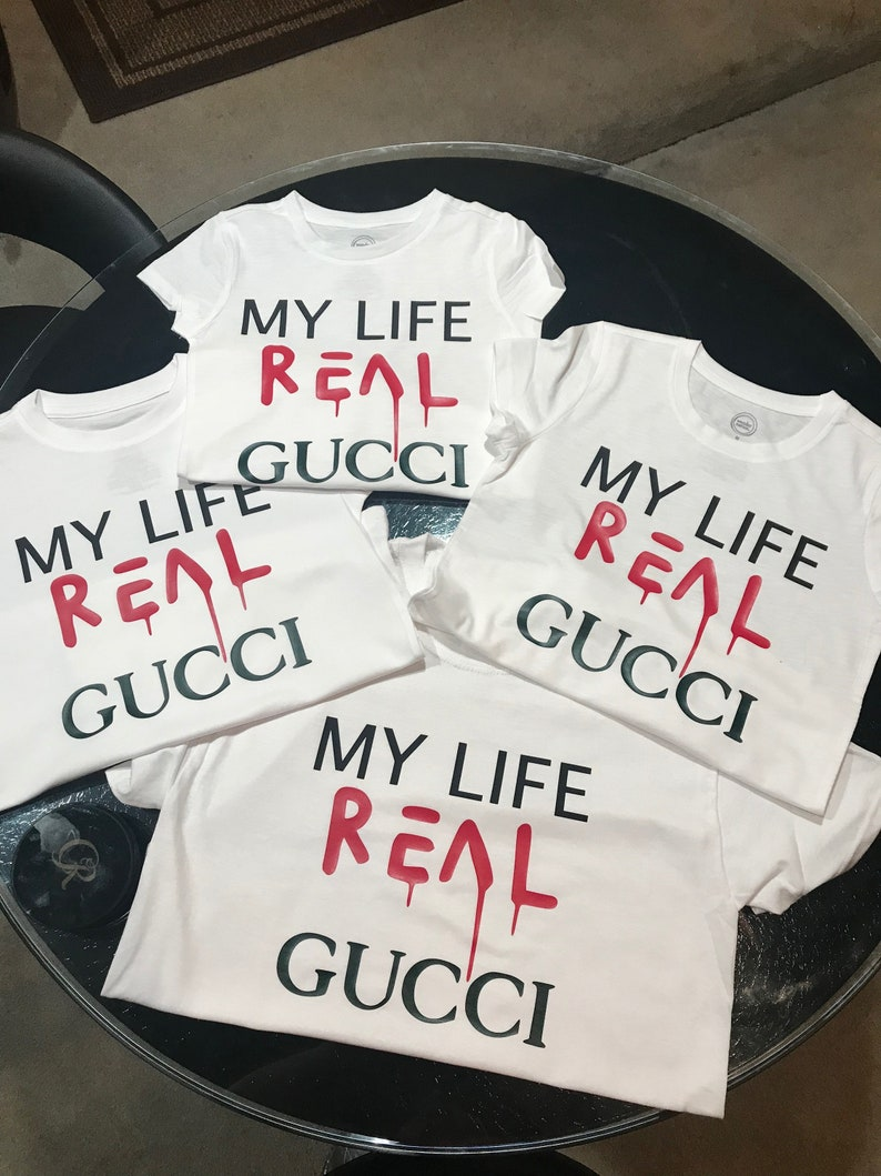 7755436c4d9952 My Life Real Gucci Kids T-Shirt