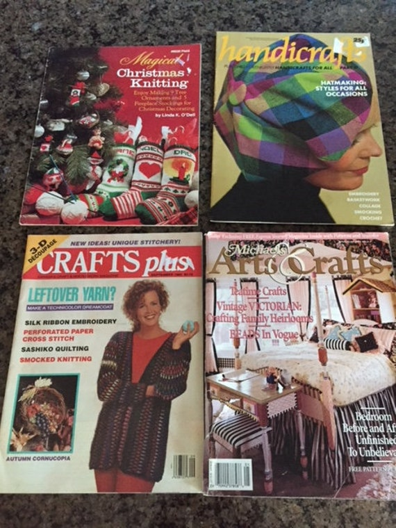 Vintage Craft Magazines Michaels Arts And Crafts Crafts