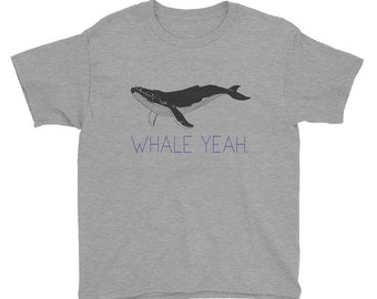 Whale Yeah Humpback Whale Youth Tee