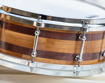 Snare drum made of Cherry and Purple Heart