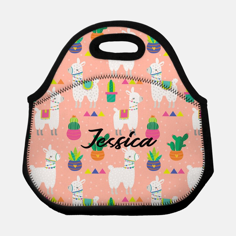 b4383878d904 Llama lunchbox, Llama lunch box, Llama lunch tote, Personalized lunch box,  Children's lunchbox, Kids lunchbox, Alpaca lunch tote, Llama