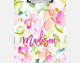Personalized clipboard,  Floral Clipboard, Double sided clipboard, Teacher clipboard, Nurse clipboard, Kids clipboard, Teacher gift, Wedding