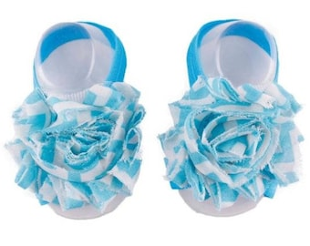 Sky Blue - Baby Shoes , Baby Barefoot Sandals,  Baby Sandal,  Baby Sandals, Barefoot, Newborn, Toddler