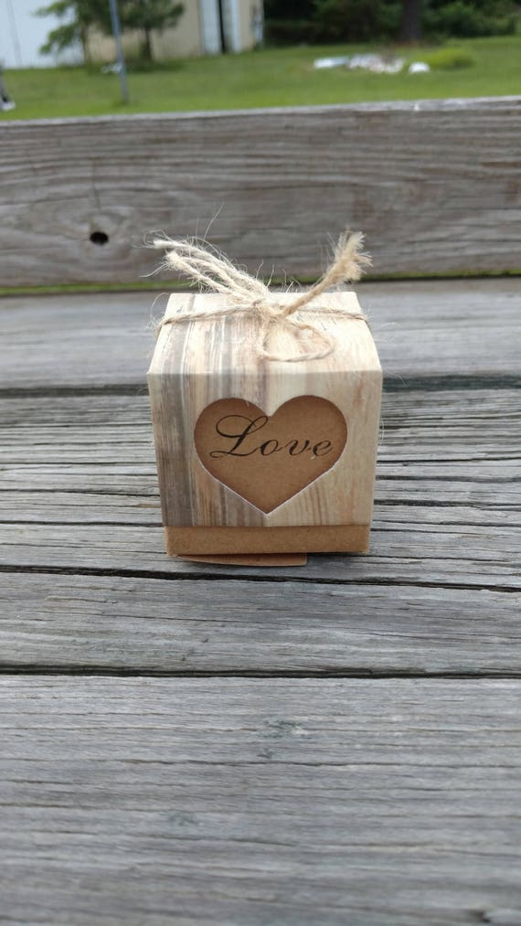 Rustic Wedding Favor Boxes Rustic Candy Box Rustic Wedding Etsy