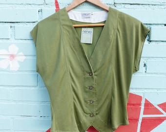 602a1c2d7263dd Olive green tank top
